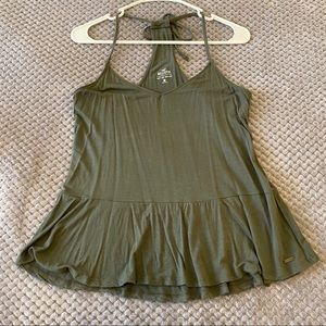 Hollister Must Have Peplum Cami - Olive Green